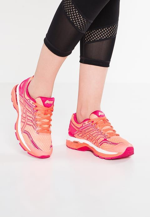 ASICS GT-2000 5 - Chaussures de running stables - flash coral/coral pink/bright rose - ZALANDO.FR