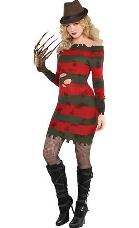 Brown Freddy Krueger Hat 13 1/2in x 6in - A Nightmare on Elm Street - Party City