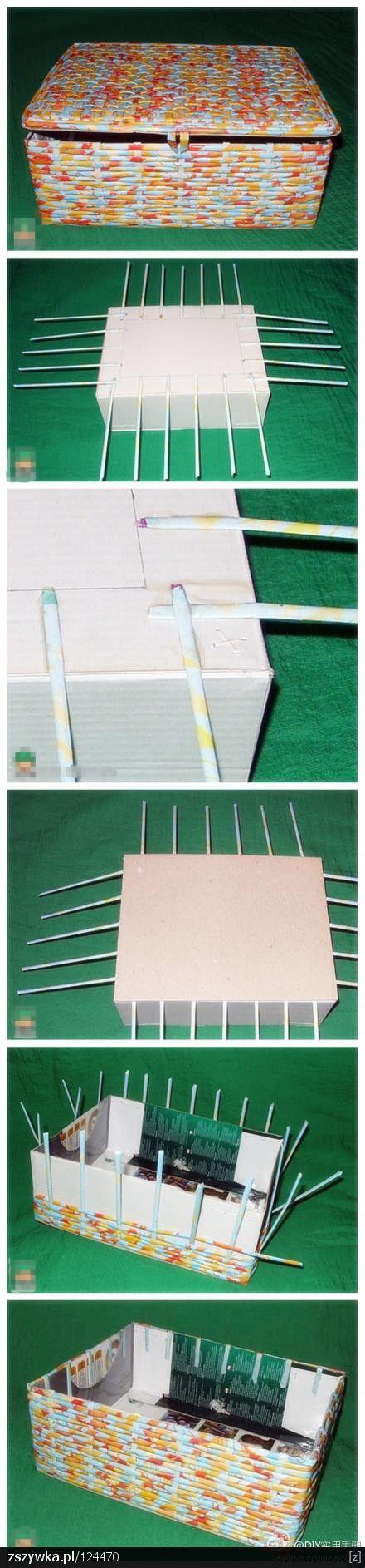 DIY - wicker paper; box