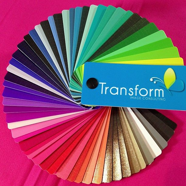 Cool Clear & Bright Colour Swatch $65. Ask about our photographic colour analysis service at www.facebook.com/TransformImageConsulting