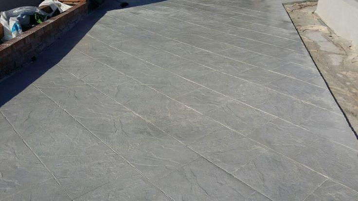 Pavimento de hormigón impreso. Pizarra
