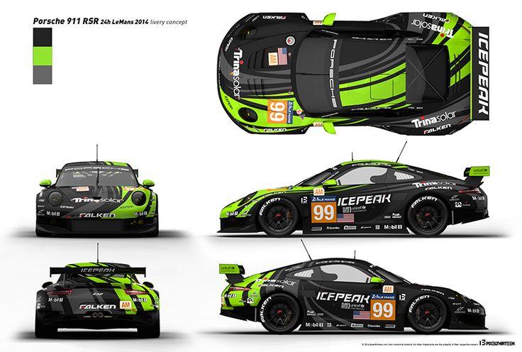 Porsche 911 Rsr Livery Design Overview Sport Cars Pinterest Design Porsche And Porsche 911