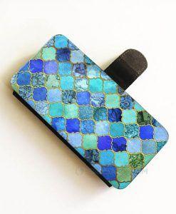 Cobalt Blue Aqua wallet case,Wallet Phone Case Iphone 6 Plus, WalletiPhone cases, Wallet samsung cases