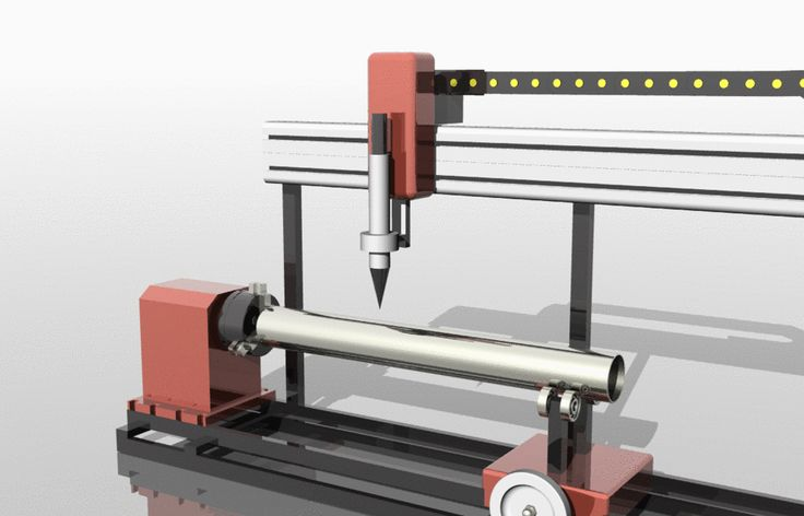 Roto Cut CNC Machine - STEP / IGES - 3D CAD model - GrabCAD