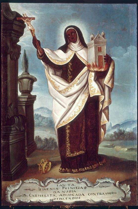Portugal, Saint Iphegenia 18th century, saint whose story comes from ancient Nubia