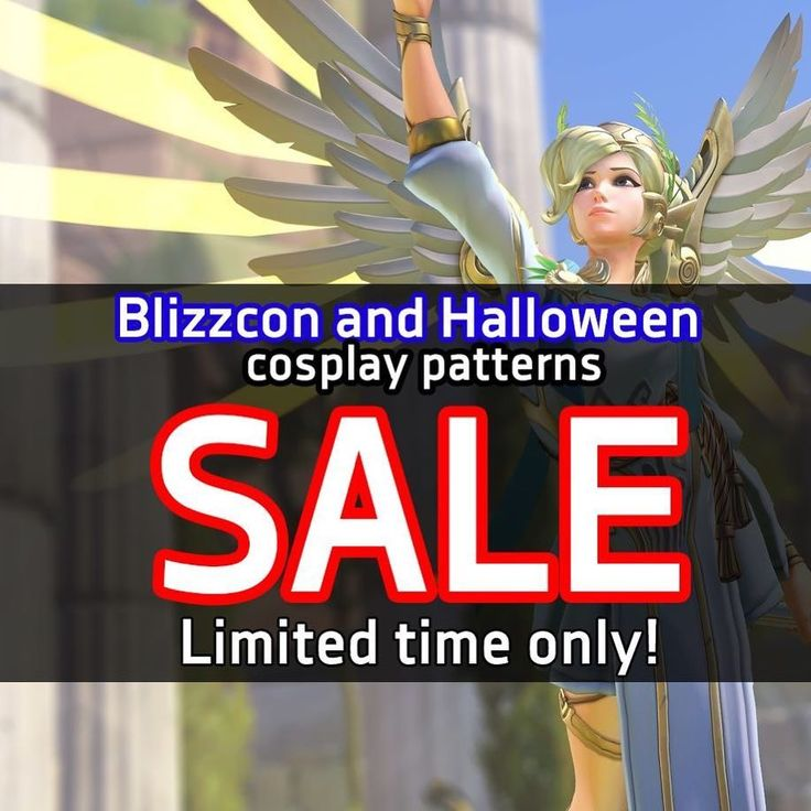 Super last minute cosplay in mind that you can totally pull off this week? Printable and instant download patterns! Last chance! Sale ends soon :) . . #cosplay #patterns #mercycosplay #overwatchmercy #overwatchcosplay #sale #etsy #halloween #blizzcon #overwatch #leagueoflegends #leagueoflegendscosplay #cosplaysale #cosplaytutorial #cosplaypatterns #costume #halloweencostume #cosplayer
