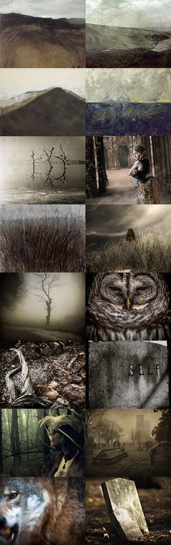 """""""The Bleak Plains"""" by Nadja Sand on Etsy for the Haunting Treasuries Team using as inspiration the 19th century horror story, """"The Inhabitants of Carcosa.""""  **  Pinned with TreasuryPin.com"""