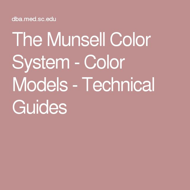 The Munsell Color System - Color Models - Technical Guides