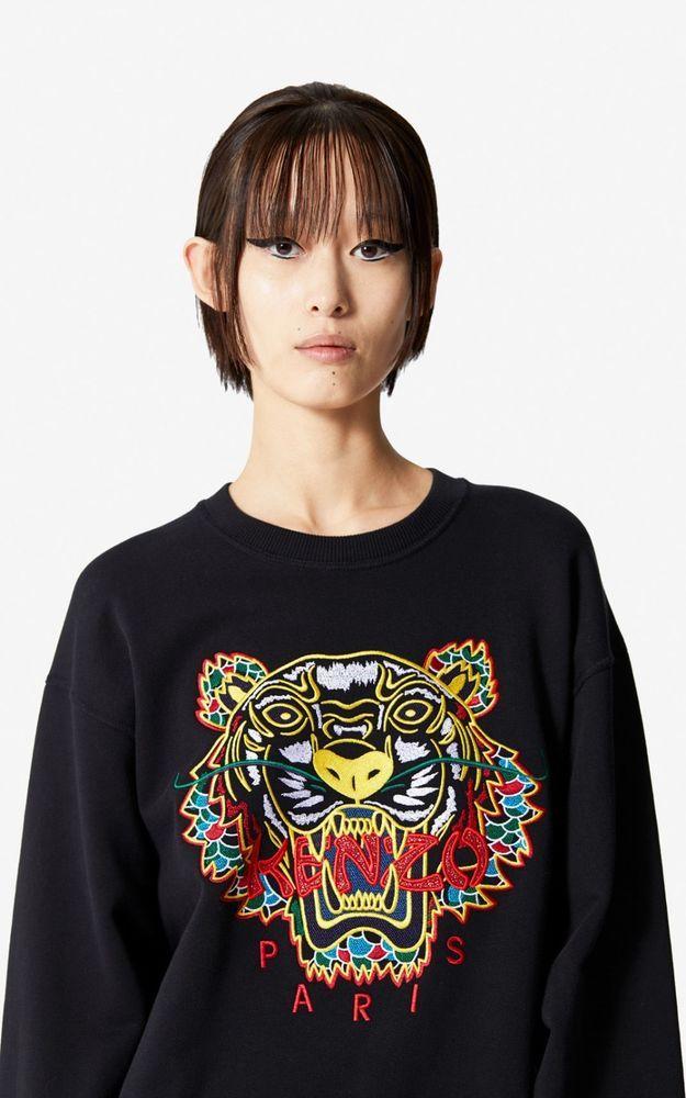 ebaa8005 AUTHENTIC: KENZO Women's Embroidered Dragon Tiger Sweatshirt Women (XSSML)  #fashion #clothing