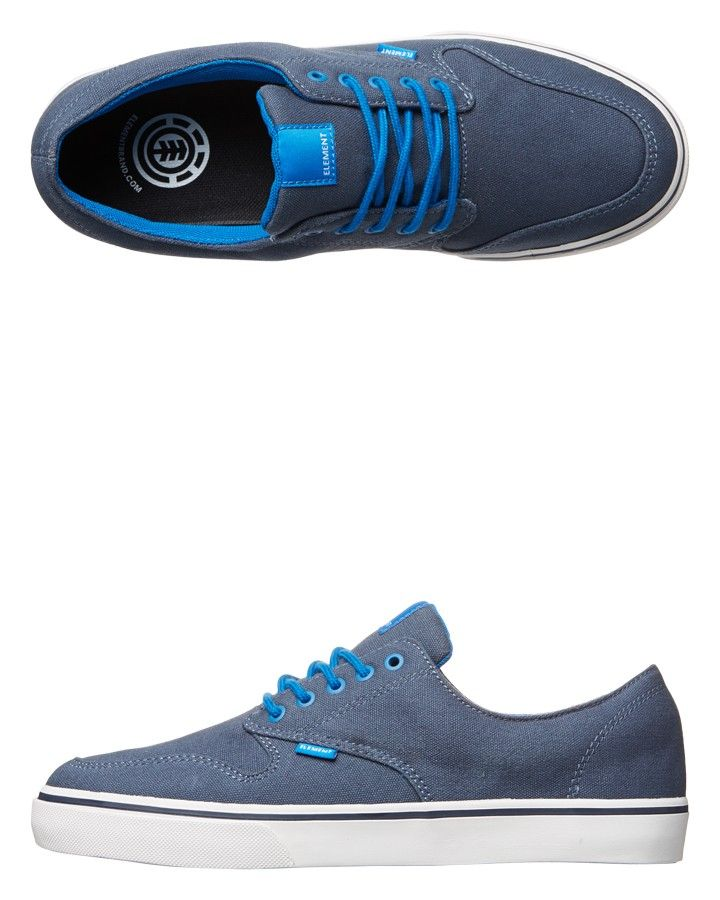 The new Boys Topaz C3 skate shoe from Element in navy...