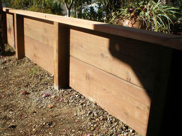 36 best wood retaining wall images on Pinterest | Backyard ideas ...