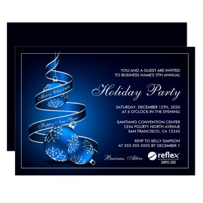 Elegant Business Holiday Party Invitations Zazzle Com Holiday Open House Invitations Holiday Party Invitations Corporate Holiday Party Invitations