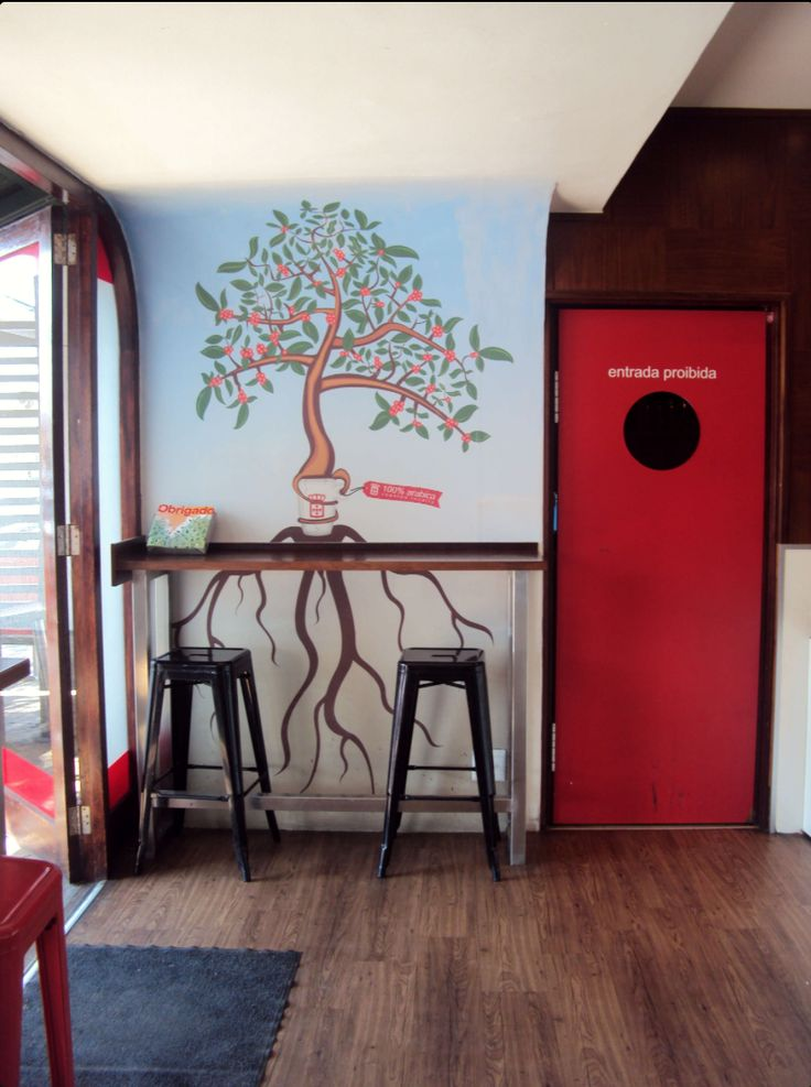 Frontal view of the current artwork at the vida e caffe in Constantia Village