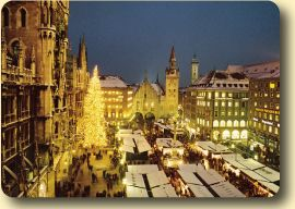 Munich Christmas Market in front of the old town hall.  Missing Munich!
