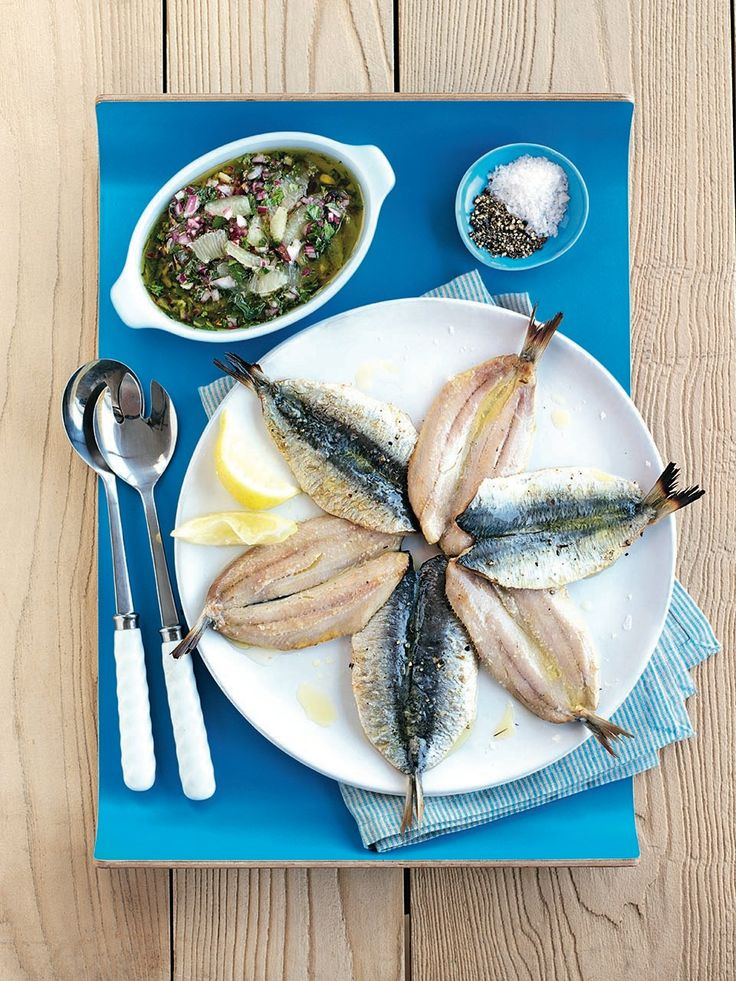 A beautiful, simple sardine recipe served with a bright and zesty lemon salsa. You can cook the sardines on a barbecue or under the grill.