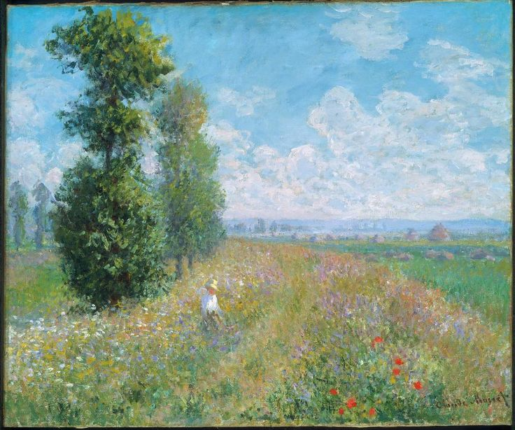 Claude Monet - 1840 - 1926 Meadow with Poplars, 1875 Oil on canvas / 54.6 x 65.4 / Museum of Fine Arts Boston