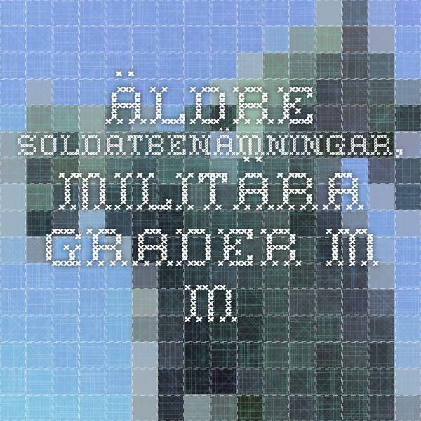 Äldre soldatbenämningar, militära grader m m