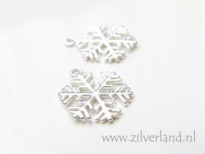 - Sterling Zilveren Hanger- Sneeuwvlok