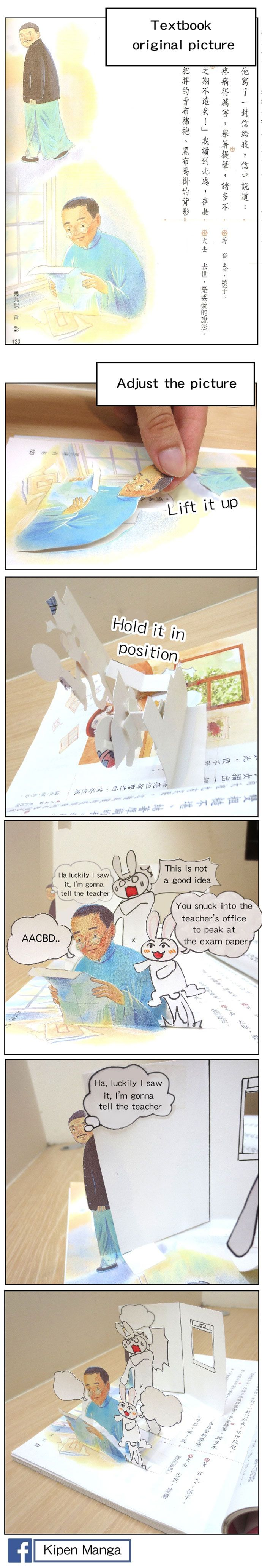 Kipen Manga - Textbook drawings