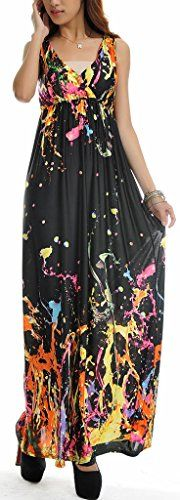 New QZUnique Women's Plus Size V-Neck Sleeveless Elastic Waist Bohemian Beach Dress Maxi Dress online. Enjoy the absolute best in Zeagoo Dresses from top store. Sku ykjt96007ycxm87412