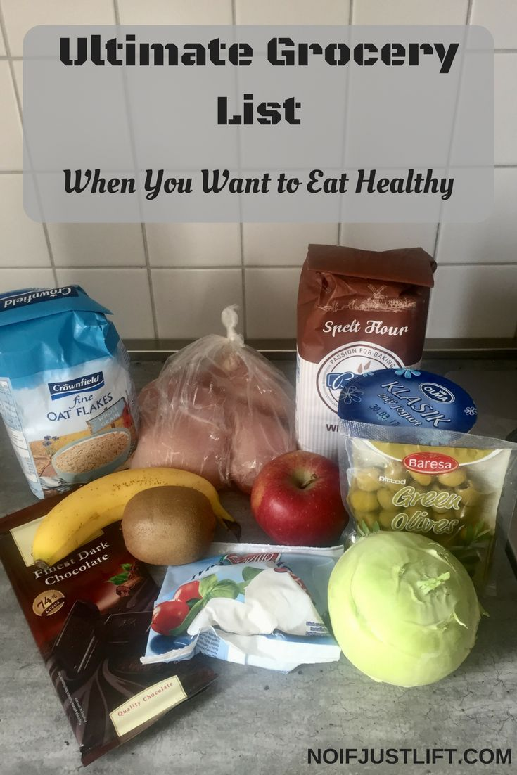 Ultimate Grocery List: What should you buy to be able to eat healthy.