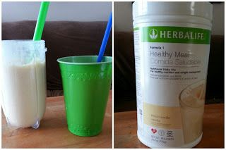 Herbalife Cake Batter Shake Recipe 1 cup water 2 scoops Vanilla Formula 1 Herbalife  1 tablespoon sugar free French Vanilla pudding mix 1 tablespoon sugar free Cheesecake pudding mix 1 tablespoon sugar free Torani French Vanilla flavoring syrup  Ice cubes