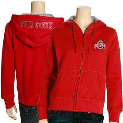 Ohio State Buckeyes Ladies Scarlet Academy Full Zip Hoodie Sweatshirt