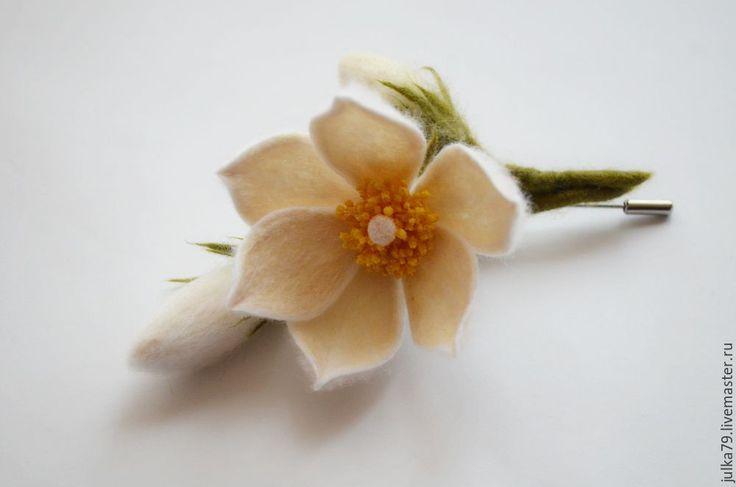 Купить Сон трва белая - белый, сон трава, сон, цветы, цветы ручной работы