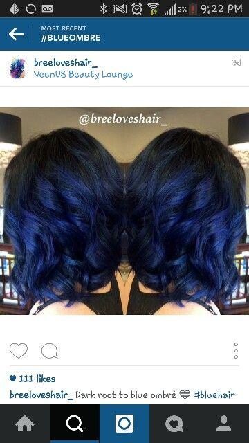 Black to blue ombre style                                                                                                                                                                                 More