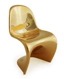 Panton Chair miniature: Gold Green, Gold Chairs, Chair Miniature Hhstyle Com, Chairs Design, Panton Gold
