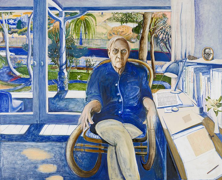 Patrick White at Centennial Park, 1979-1980, by Brett Whiteley