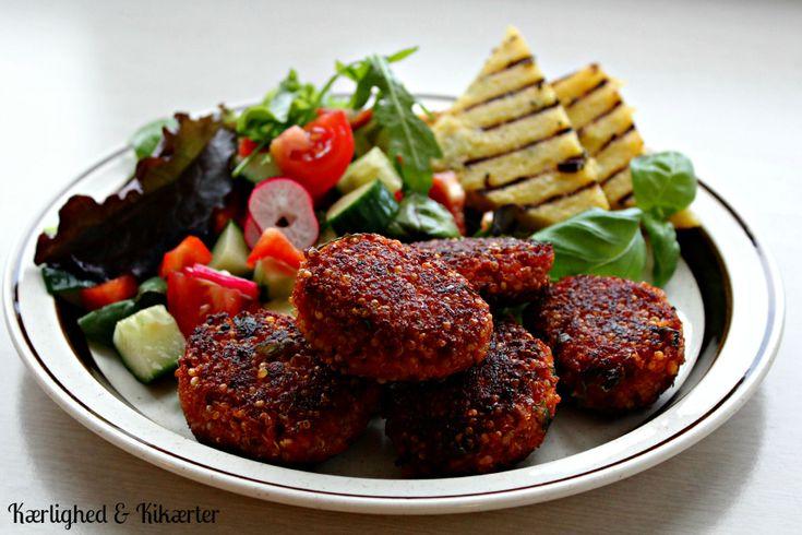 Quinoa-nuggets med tomat og basilikum