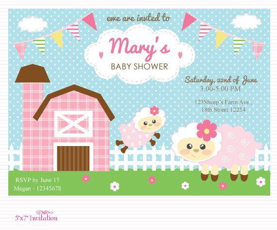 Customized Sheep Lamb Ewe Digital Printable Birthday by ...