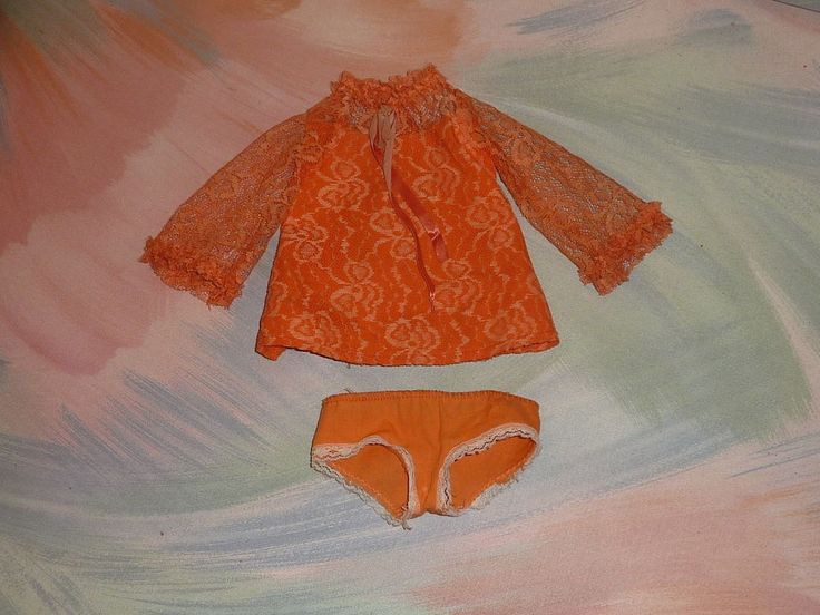 """Ideal Crissy 18"""" Doll's Orange Lace Dress Panties ONLY Vintage NO doll (LotD) #Ideal #ClothingAccessories"""
