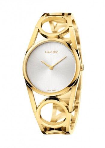 Calvin Klein Round K5U2M546 damski zegarek M #ck #calvinklein #zegarekdamski #zegarek #swiss #swissmade