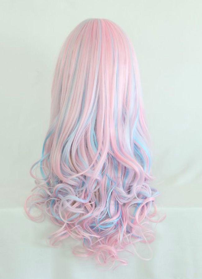 cheveux roses et bleu pastel - blue and pink hair