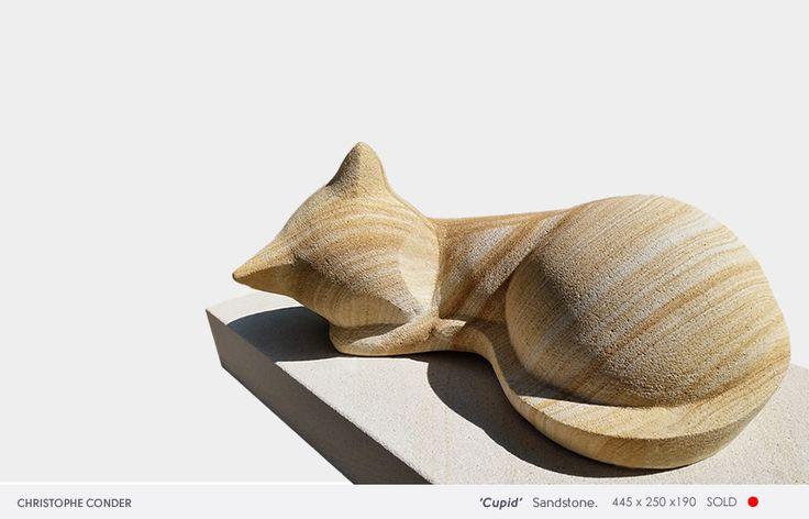 'Cupid' 2015 Artist: Christophe Conder Sandstone 350 x 220 x 180 SOLD