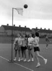 Netball in the old days when they used to shoot one handed and from the waist up!
