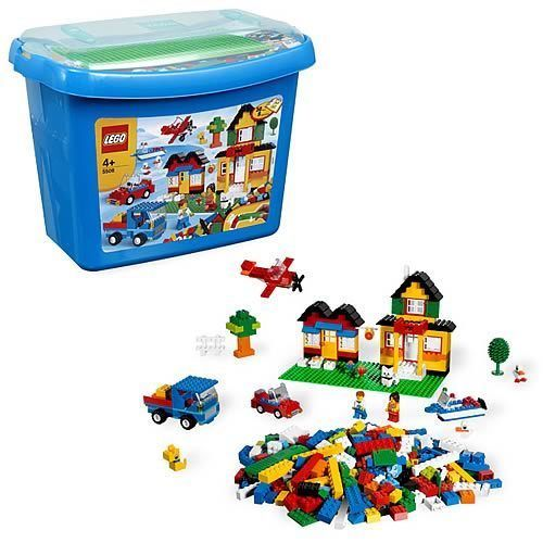 RETIRED LEGO 5508 DELUXE BRICK BOX Complete Box Instructions Minifigures