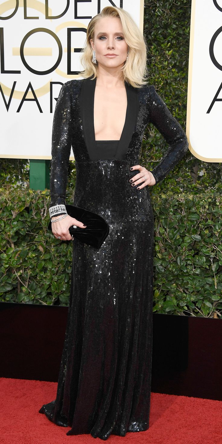 The Raciest Fashion Trend of the 2017 Golden Globes - Kristen Bell from InStyle.com