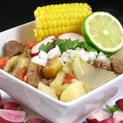 Caldo de Res (Mexican Beef Soupi add extra lemon, salt, pepper, cayenne pepper and its to die for!!!!!!!Allrecipes.com