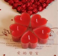 5pcs Red Heart Candles, Wedding Favors, Party Gifts, Table Decorations