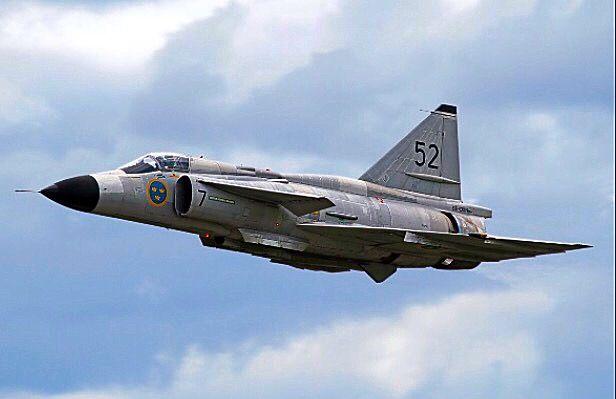 Swedish Air Force Saab AJS37 Viggen.