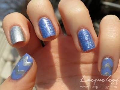 Silver Chevron with Lynnderella Forget You Not & Essie Boxer Shorts