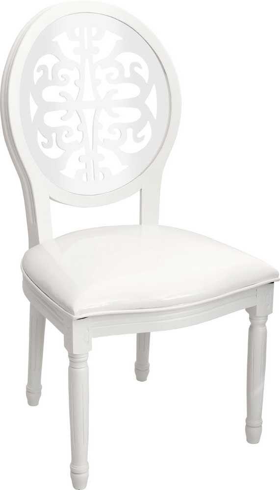 OnLine Atelier - Loja Virtual - arte - decoração - design -  Cadeirada ref 001043 com armação de madeira de bétula, encosto em acrílico vazado branco, estofada com revestimento em pu brilhoso branco. Pronta Entrega.  (54) 9165-9726 - onlineatelier@hotmail.com