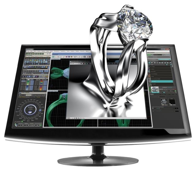 MDJ. CAD computer aided design. Designer that special ring.