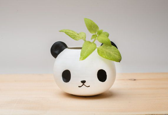 3D printed cute panda planter gift for friends and home decor, Cute, Office, Succulent Planter, Cactus,Flower Pot