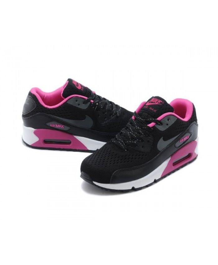 finest selection 761a7 8bc64 Womens Nike Air Max 90 Knit Black Pink 6809331-506