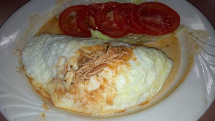 Delicious Egg White Omelette Stuffed with shredded chicken at Pegs ...