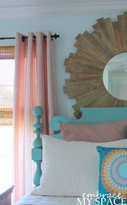 Embrace My Space: Master Bedroom...( peach / coral and ...